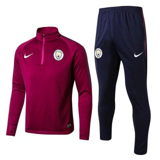 FR Survêtement Training Manchester City 2017/2018 Rouge Obscure
