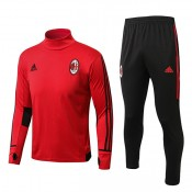 Collection Survêtement Training Milan AC 2017/2018 Rouge Soldes