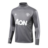 Vente Privee Training Top Manchester United 2017/2018 Gris Clair