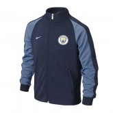 Solde Veste Zip N98 Manchester City 2016/2017 Bleu Junior